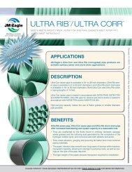 Ultra rib™/ Ultra corr™ - JM Eagle