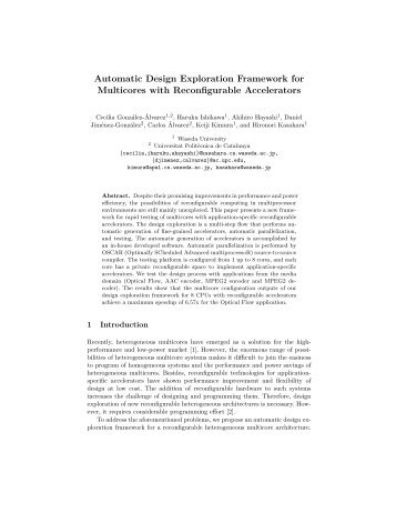 Automatic Design Exploration Framework for Multicores with ...