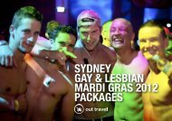 sydney gay & lesbian mardi gras 2012 packages - Out Travel
