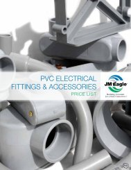 PVC Electrical Fittings & Accessories Brochure & Price List - JM Eagle