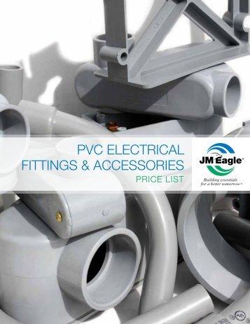 PVC Electrical Fittings & Accessories Brochure & Price List - JM Eagle