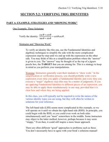 Trig Identities Worksheet 3 4 Worksheets for all | Download and ...