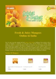 Fresh & Juicy Mangoes Online in India