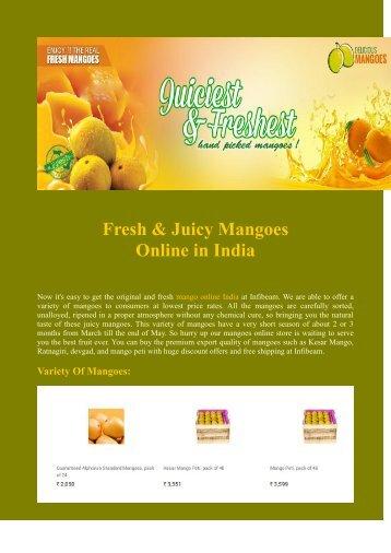 Fresh & Juicy Mangoes Online in India