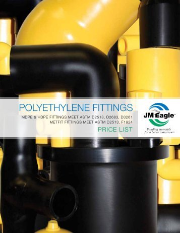 Polyethylene Fittings Brochure & Price List - JM Eagle