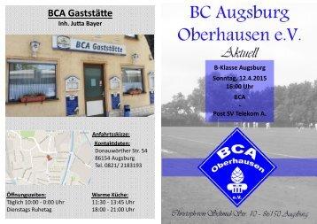 9. Heimspiel BC Augsburg Oberhausen - Post SV Telekom
