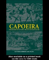Capoeira: The History of an Afro-Brazilian Martial Art