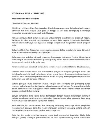 UTUSAN MALAYSIA – 15 MEI 2010 Medan raikan belia ... - IPPBM
