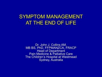 Symptoms Management at End of Life and Terminal ... - Maspho.org