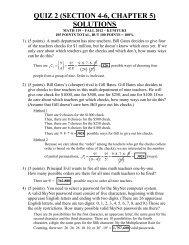 QUIZ 2 (SECTION 4-6, CHAPTER 5) SOLUTIONS - Kkuniyuk.com