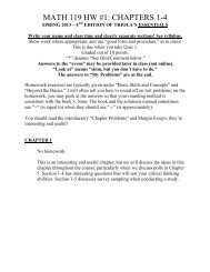 MATH 119 HW #1: CHAPTERS 1-4 - Kkuniyuk.com