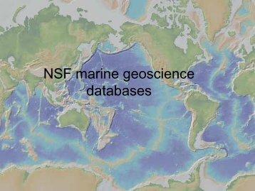 Presentations - Marine Geoscience Data System