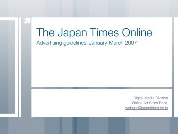 A-1 - The Japan Times Online