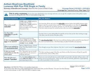 Anthem BlueCross BlueShield Premier - Medicoverage