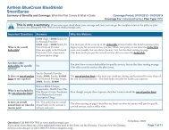 Anthem BlueCross BlueShield SmartSense - Medicoverage