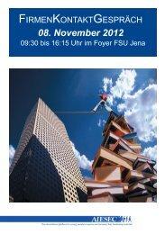 08. November 2012 - AIESEC Firmenkontaktgespräch Jena 2005