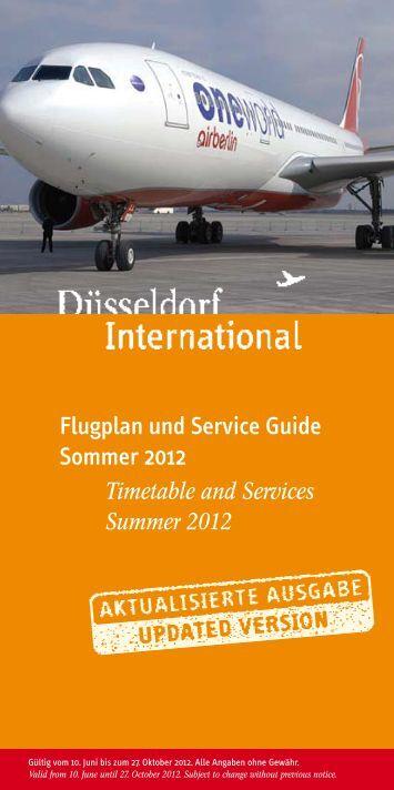 Flugplan und Service Guide Sommer 2012 - Flughafen Düsseldorf ...