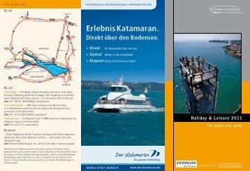 Erlebnis Katamaran. Direkt über den Bodensee. - Friedrichshafen