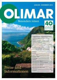 Preise und Informationen - Olimar