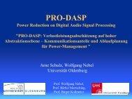 PRO-DASP: Verlustleistungsabschätzung auf hoher ...
