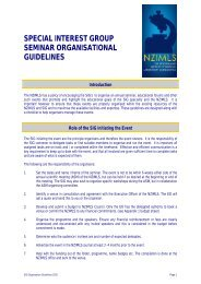 special interest group seminar organisational guidelines