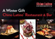 A Winter Gift Chino Latino® Restaurant & Bar
