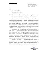 Establishment of Centralized Pension Processing Centre in all ...