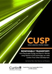 RENEWABLE TRANSPORT: - Infrastructure Australia