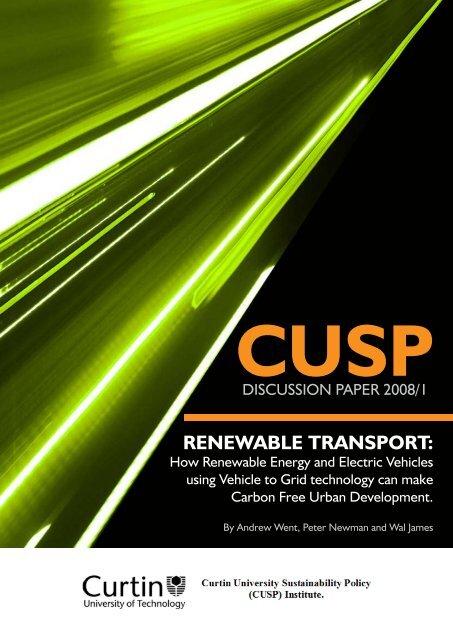 RENEWABLE TRANSPORT: - Infrastructure Australia