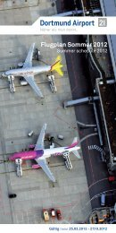 Flugplan Sommer 2012 - Dortmund Airport