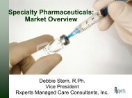 Specialty Pharmaceuticals: Market Overview - Health Industry Forum