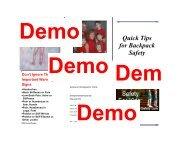 Backpack Safety Brochure - Posture Pro