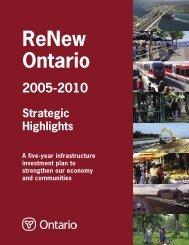 ReNew Ontario 2005-2010