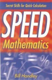 Speed.Mathematics.Secret.Skills.for.Quick.Calculation