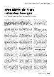 Pro NRWÂ« als Riese unter den Zwergen - Lotta