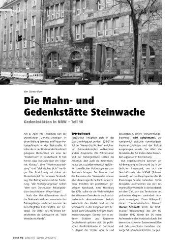 Die Mahn- und Gedenkstätte Steinwache - Lotta