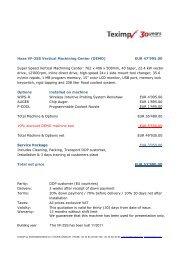 Haas VF-2SS Vertical Machining Center (DEMO) EUR ... - Teximp SA