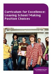 Curriculum for Excellence - Gracemount High School