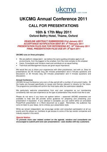 PDF Submission Form - UKCMG