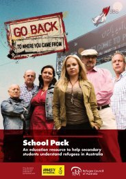 School Pack - Refugee Council of Australia