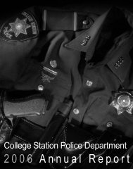 College Station Police Department 2006 Annual Report (Single ...