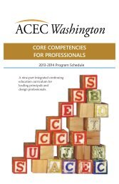 core competencies for professionals - ACEC of Washington