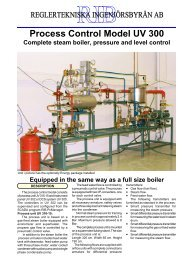 Process Control Model UV 300 Complete steam boiler ... - RIB