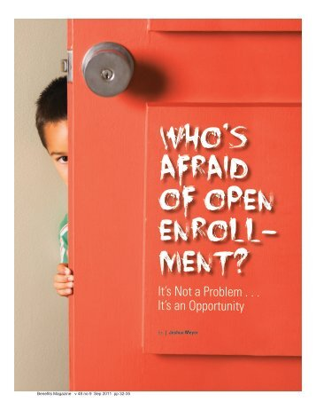 Who's Afraid of Open Enroll - International Foundation of Employee ...