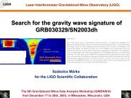 Search for the gravity wave signature of GRB030329 ... - UWM LSC