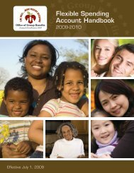 Flexible Spending Account Handbook - Office of Group Benefits