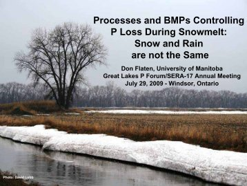 Processes and BMPs Controlling P Loss During Snowmelt: Snow and ...