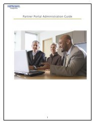 Partner Portal Administration Guide - Sierra Health and Life