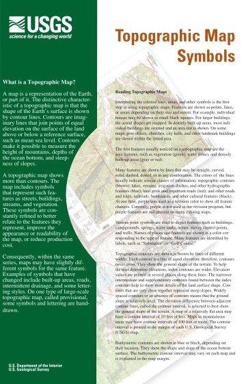 Topographic Map Symbols - Alabama Maps