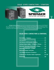 SOLID -STATE CONTACTORS / STARTERS - Springer Controls